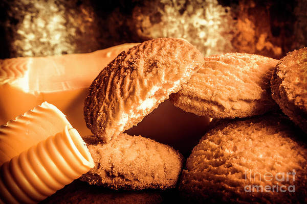 Restaurants Photograph - Still Life Bakery Art. Shortbread Cookies by Jorgo Photography - Wall Art Gallery