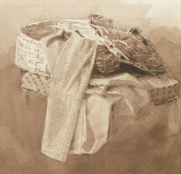 Painting - Still Life Basket by Peter DeWint