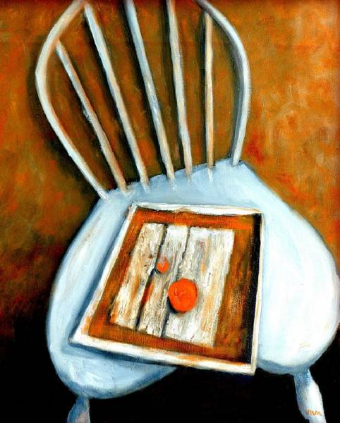 Painting - Still Life - Chair With Fruit by VIVA Anderson