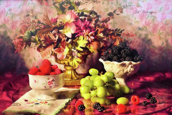 Digital Art - Still Life by Jill Wellington