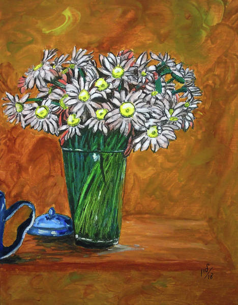 Camomile Painting - Still Life by Maria Woithofer