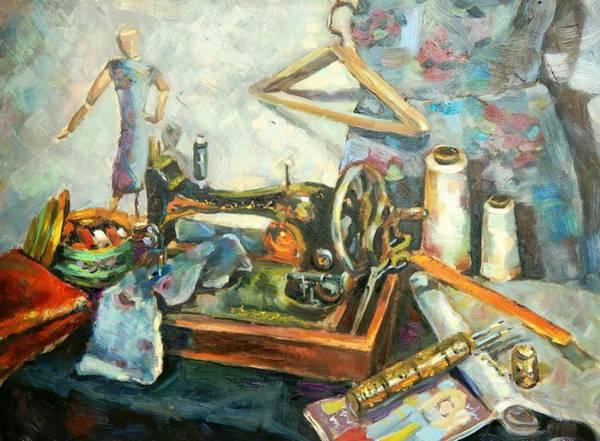 Painting Sewing Machine Art