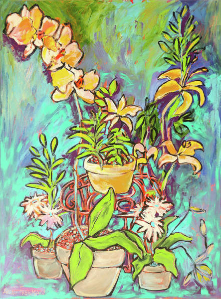 Wall Art - Painting - Still Life Of Flowers by Arrin Burgand