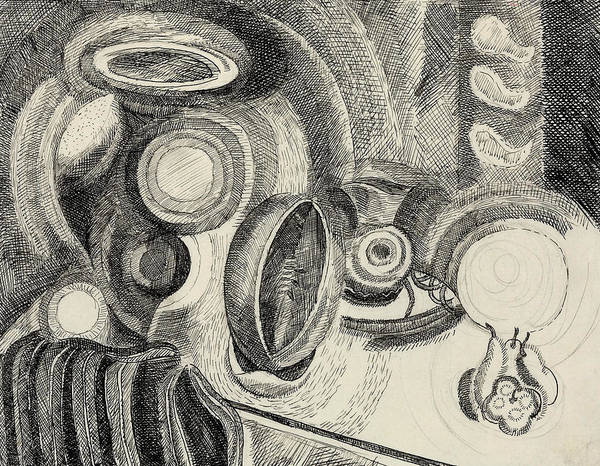 French Artist Drawing - Still Life Portuguese by Robert Delaunay