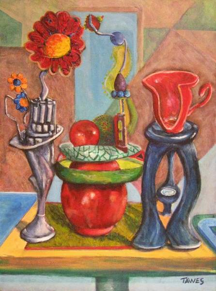 Painting - Still Life Reconstructed by Dennis Tawes