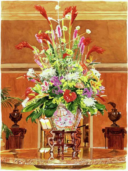 Painting - Still Life - Ritz Carlton Laguna Niguel by David Lloyd Glover