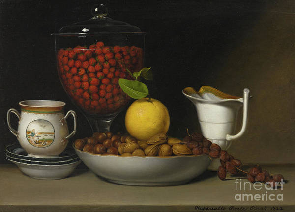 Containers Painting - Still Life   Strawberries, Nuts by Raphaelle Peale