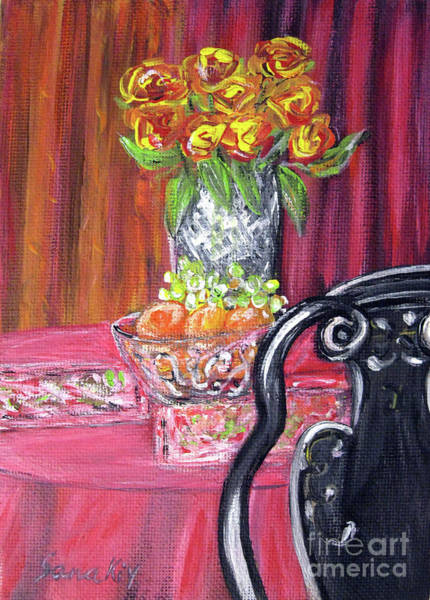Painting - Still Life. Welcome by Oksana Semenchenko