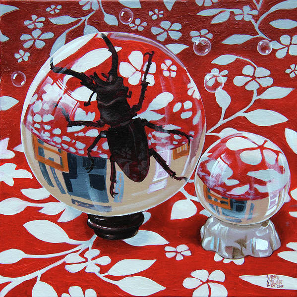 Painting - Still Life With A Beetle by Victor Molev