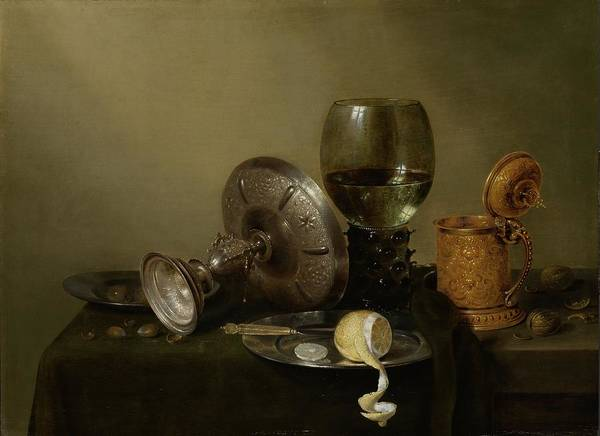 Food Groups Painting - Still Life With A Gilded Beer Tankard,  by Willem Claeszoon Heda