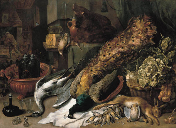 Food Groups Painting - Still Life With A Wine Cooler1610 by Frans Snyders