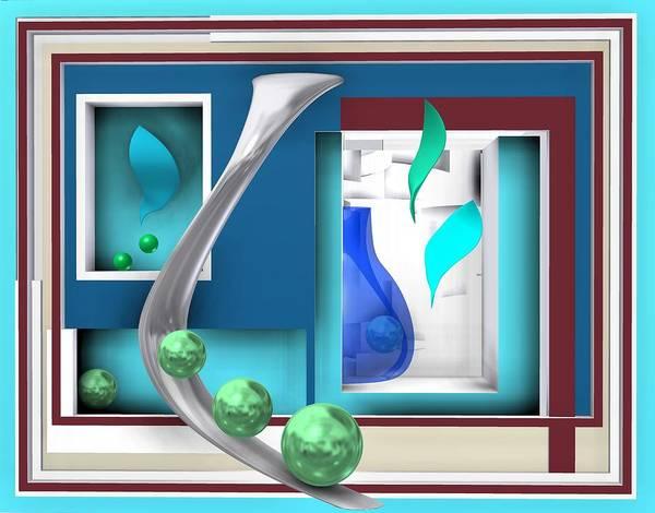 Digital Art - Still Life With Blue Glass In The Room by Alberto RuiZ