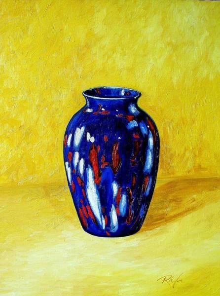 Still Life With Blue Vase Art Print