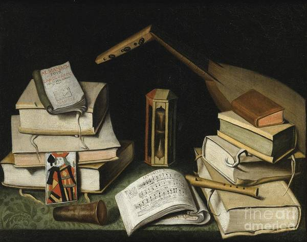 Painting - Still Life With Books by Celestial Images