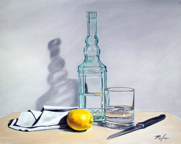 Still Life With Bottle Art Print