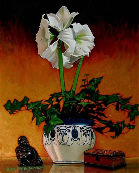 Wall Art - Painting - Still Life With Buddha by Doug Strickland