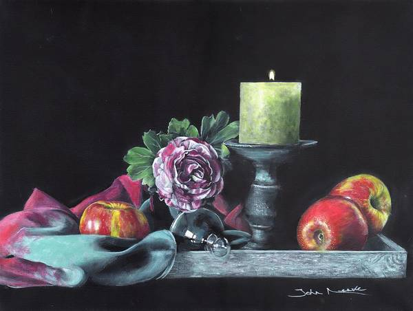 Painting - Still Life With Candle by John Neeve