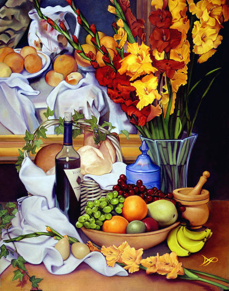 Gladiolus Painting - Still Life With Cezanne by Patrick Anthony Pierson
