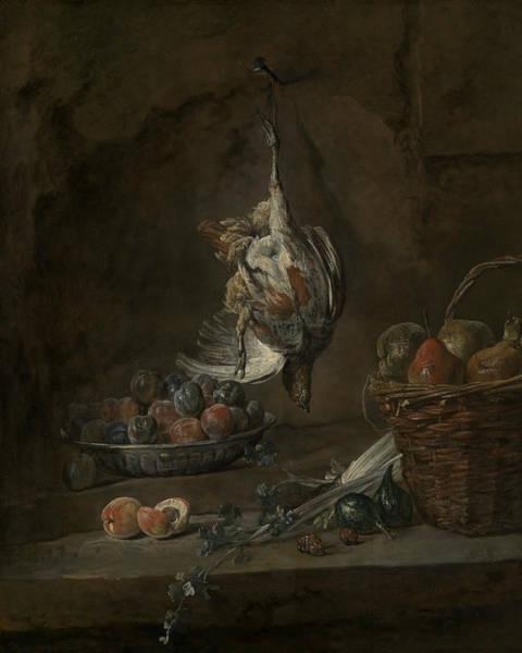 18th Century Wall Art - Painting - Still Life With Dead Pheasant by Jean-Baptiste-Simeon Chardin