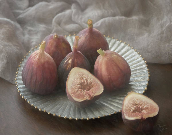 Wall Art - Photograph - Still Life With Figs 0160 by Teresa Wilson
