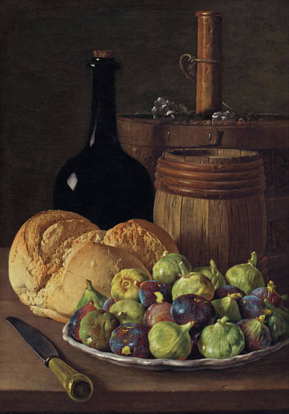Painting - Still Life With Figs And Bread by Luis Egidio Melendez