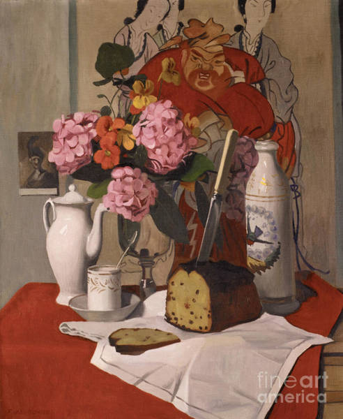 Wall Art - Painting - Still Life With Flowers, 1925 by Felix Edouard Vallotton