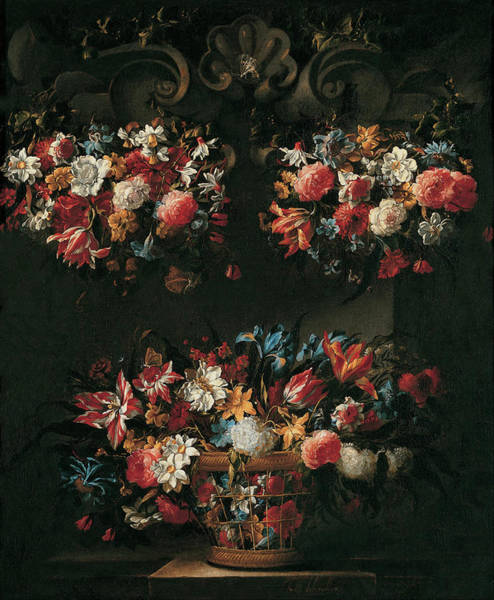 Painting - Still Life With Flowers by Juan de Arellano