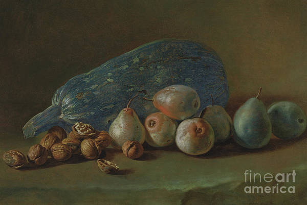 Wall Art - Painting - Still Life With Fruit And A Marrow by Giacomo Ceruti
