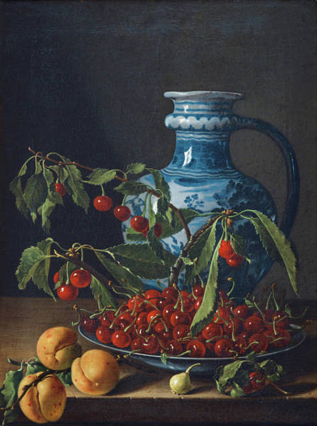 Painting - Still Life With Fruit And Jug by Luis Egidio Melendez