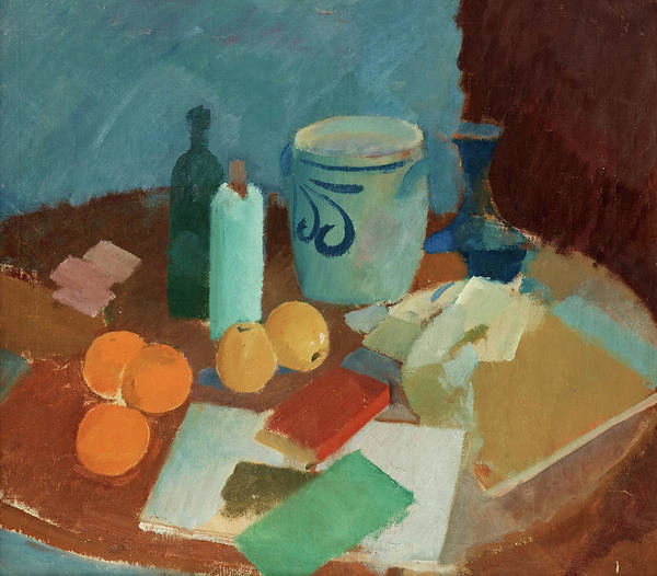Wall Art - Painting - Still Life With Fruit And Vase by Karl Isakson