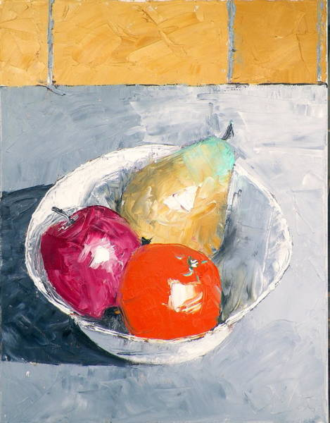Still Life With Fruit In Bowl Art Print