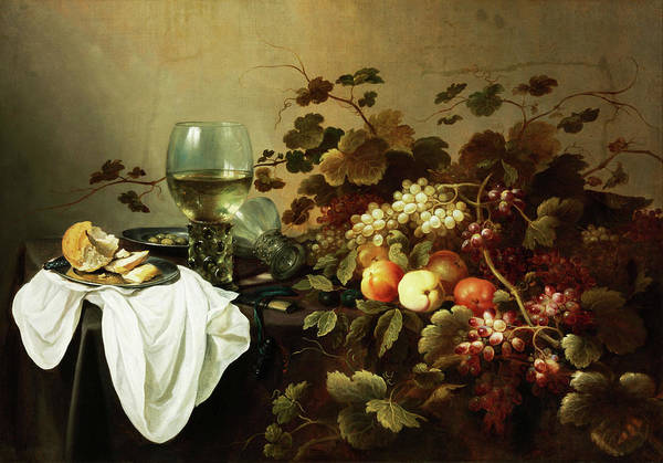 Painting - Still Life With Fruits And Roemer by Pieter Claesz