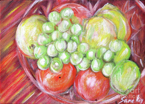 Painting - Still Life With Fruits. Harvest Time.painting  by Oksana Semenchenko