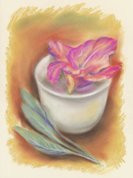 Pastel - Still Life With Gladiolus And Sage by MM Anderson