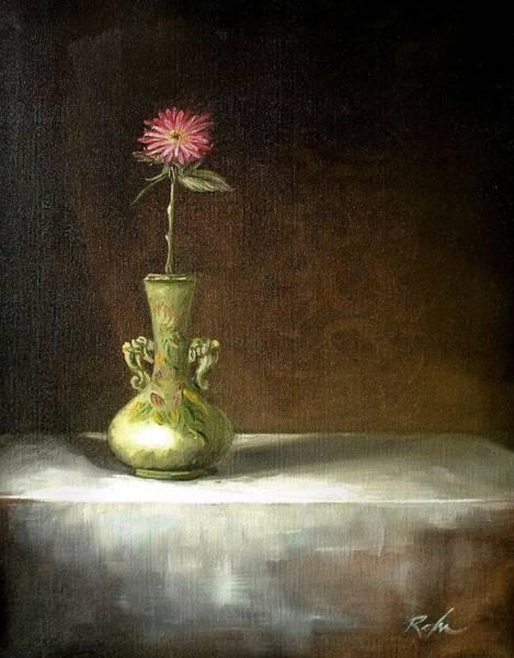 Still Life With Green Vase Art Print
