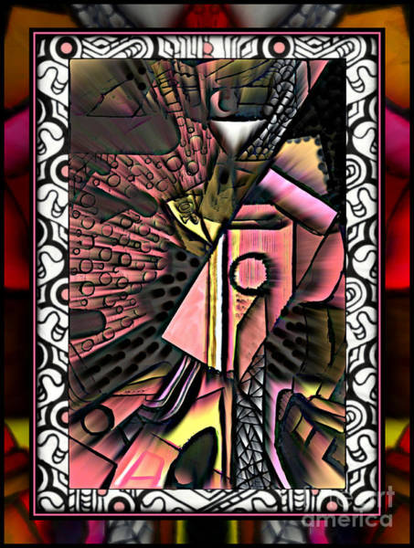 Mixed Media - Still Life With Guitar Revisited 2017 by Wbk