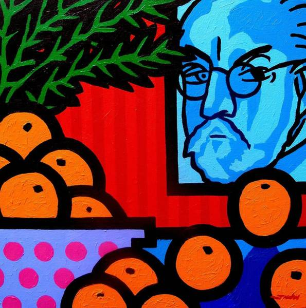 Homage Wall Art - Painting - Still Life With Henri Matisse by John  Nolan
