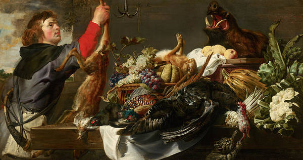 Huntsmen Wall Art - Painting - Still Life With Huntsman by Frans Snijders