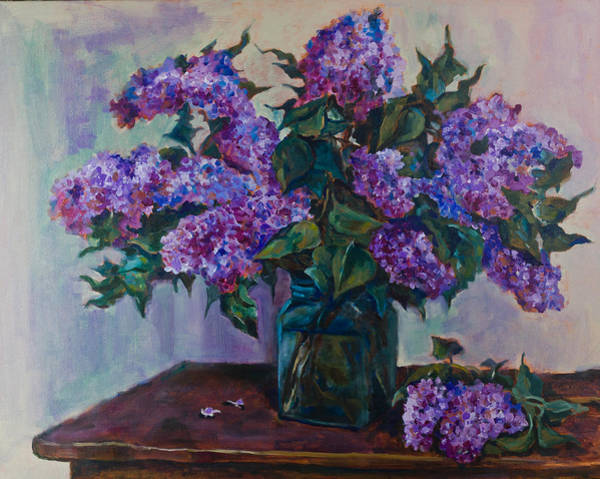Painting - Still Life With Lilac  by Maxim Komissarchik