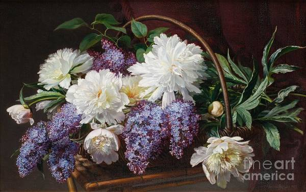 Painting - Still Life With Lilacs by Celestial Images