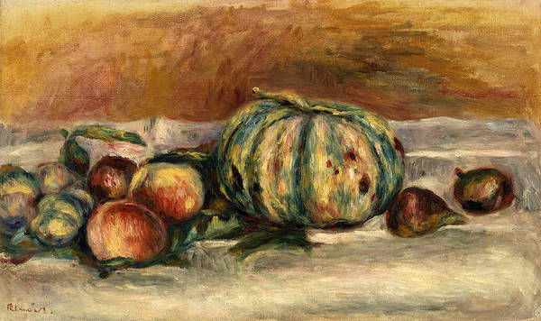 Melon Painting - Still Life With Melon by Pierre-Auguste Renoir