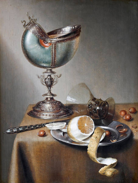 Painting - Still-life With Nautilus Cup by Marten Boelema de Stomme
