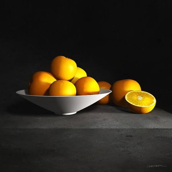 Mandarin Wall Art - Digital Art - Still Life With Oranges by Cynthia Decker