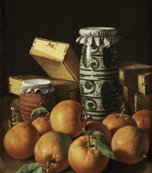 Painting - Still Life With Oranges, Jars, And Boxes Of Sweets by Luis Melendez