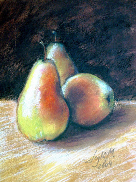 Wall Art - Painting - Still Life With Pears by Leyla Munteanu