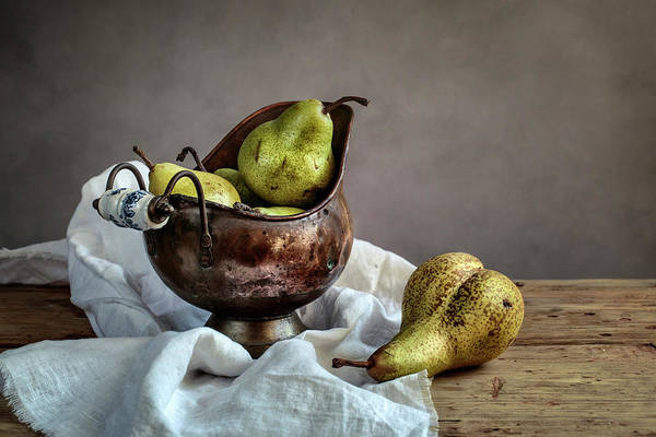 Wood Planks Photograph - Still-life With Pears by Nailia Schwarz