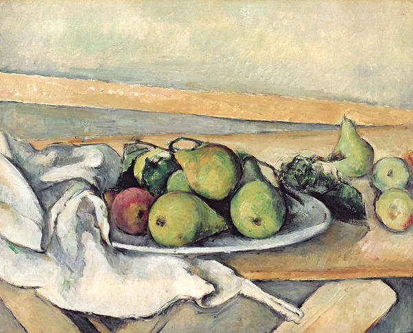 1879 Painting - Still Life With Pears by Paul Cezanne