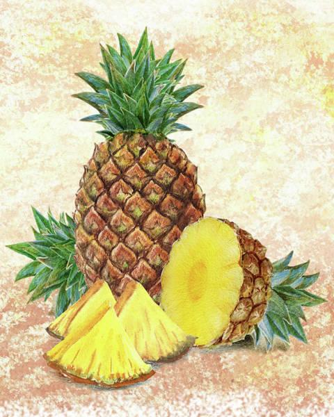 Fresh Painting - Still Life With Pineapple by Irina Sztukowski