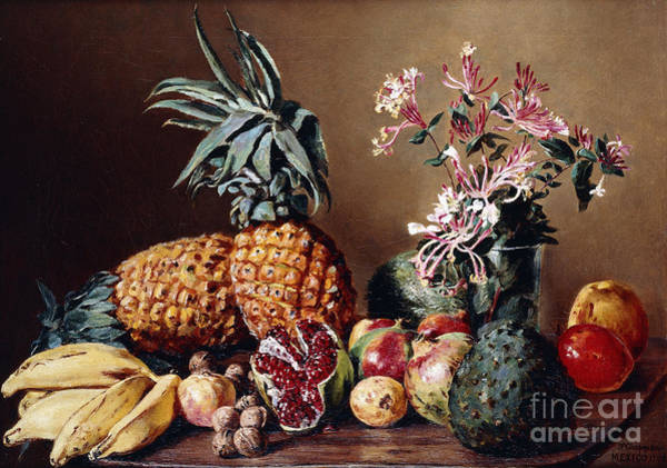 Wall Art - Painting - Still Life With Pineapples, 1908 by Conrad Wise Chapman