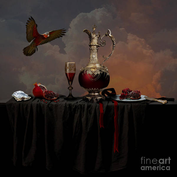 Photograph - Still Life With Pomegranate by Alexa Szlavics
